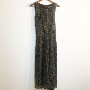 Adrianna Papell Brown Polka Dot Midi Dress, 12